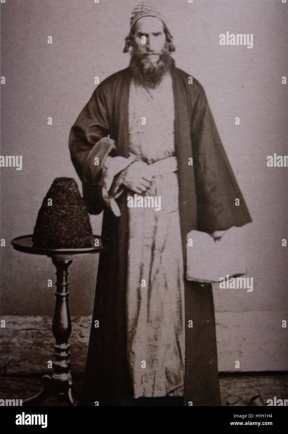 Rabbin, a Jew from Imereti (Ermakov) Stock Photo