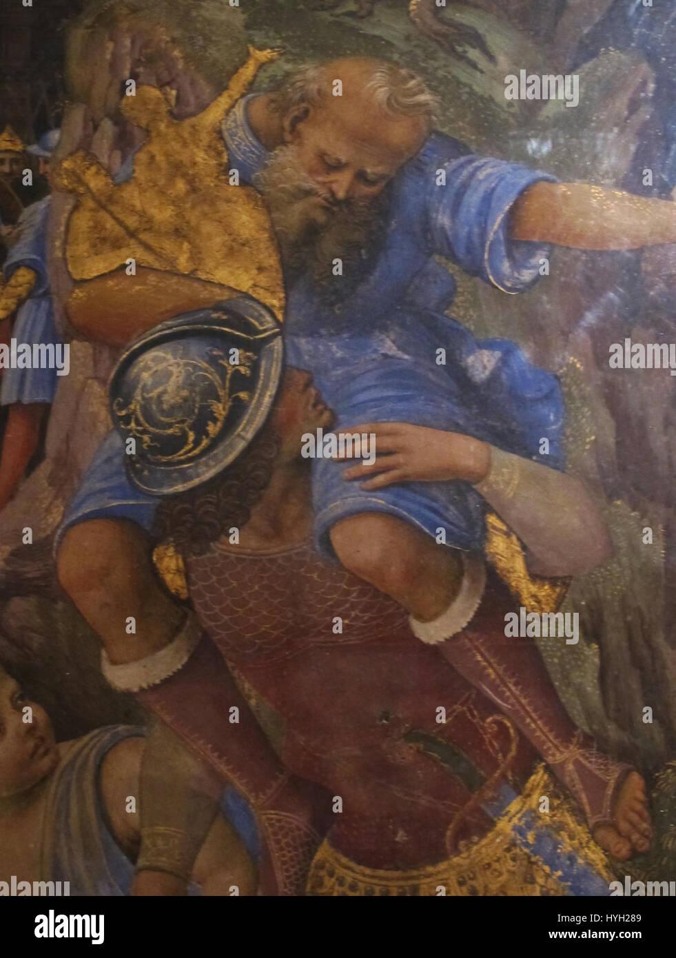 Girolamo genga, fuga da troiai, 1508 09, dal palazzo del magnifico petrucci 04 - Stock Image