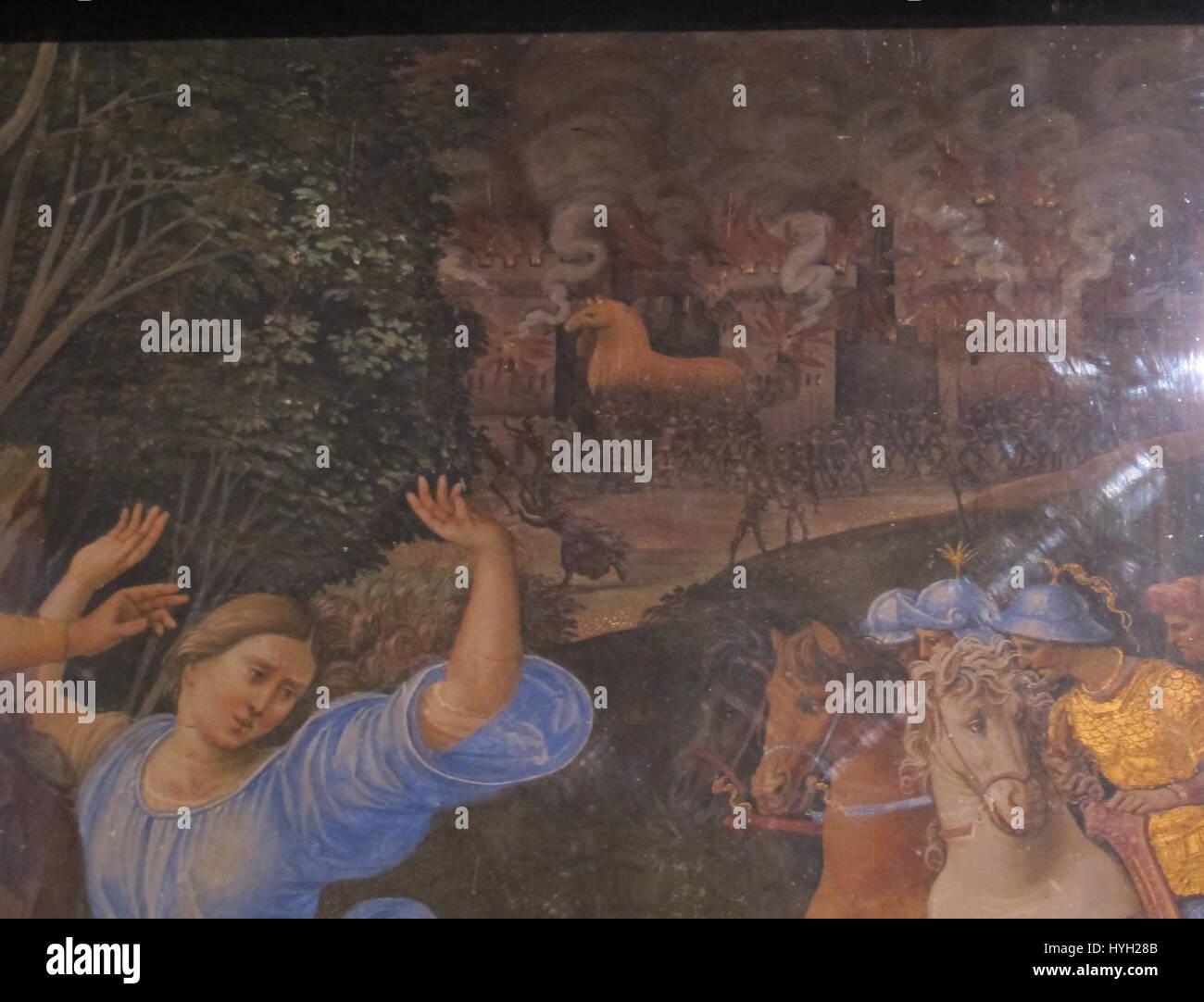 Girolamo genga, fuga da troiai, 1508 09, dal palazzo del magnifico petrucci 03 - Stock Image