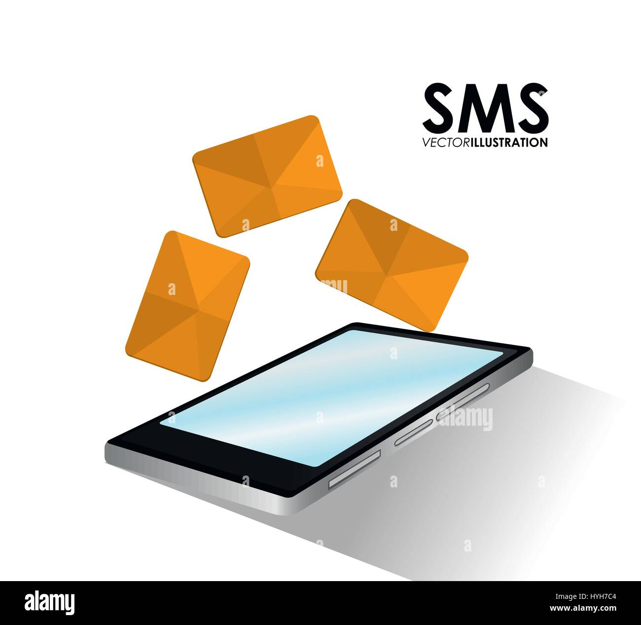 Sms and smartphone design  - Stock Image