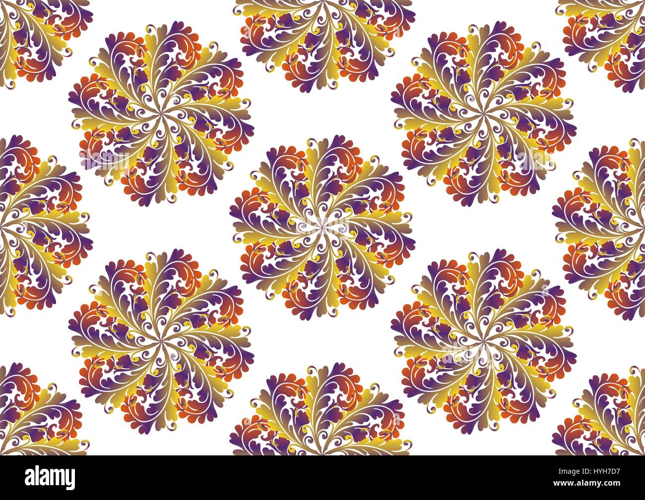 Oriental Seamless Pattern - Stock Vector