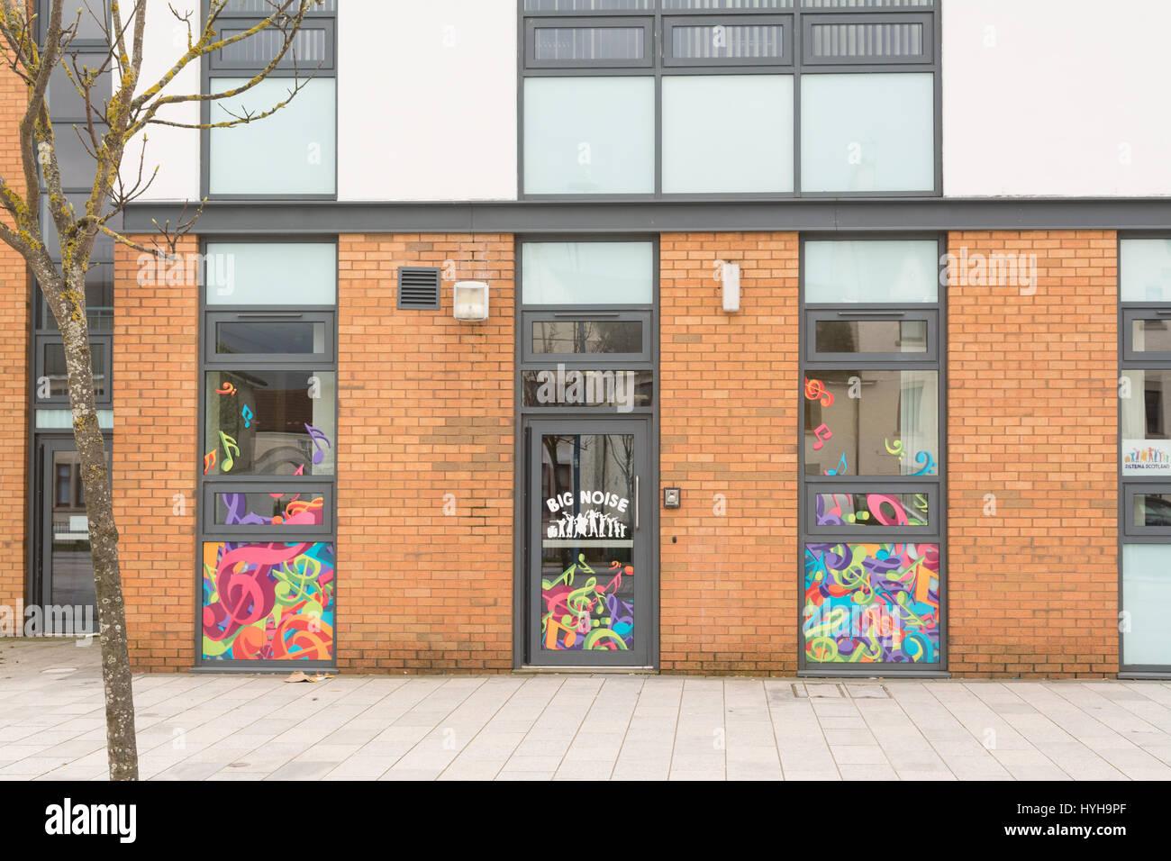 Raploch Community Campus, Big Noise children's orchestra, Raploch, Stirling, Scotland, UK - Stock Image