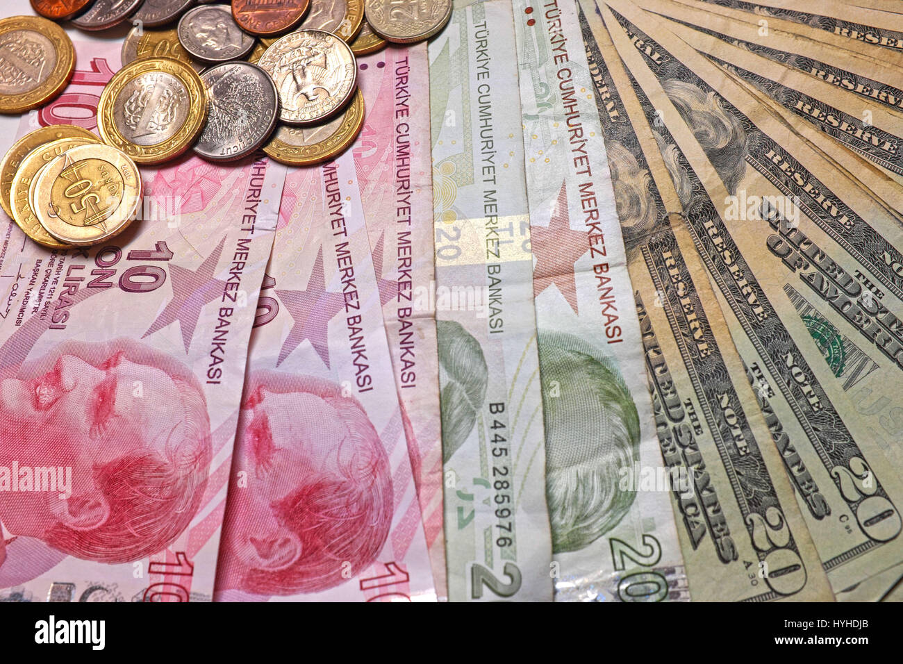 Coins Denominations Dollar Stock Photos & Coins