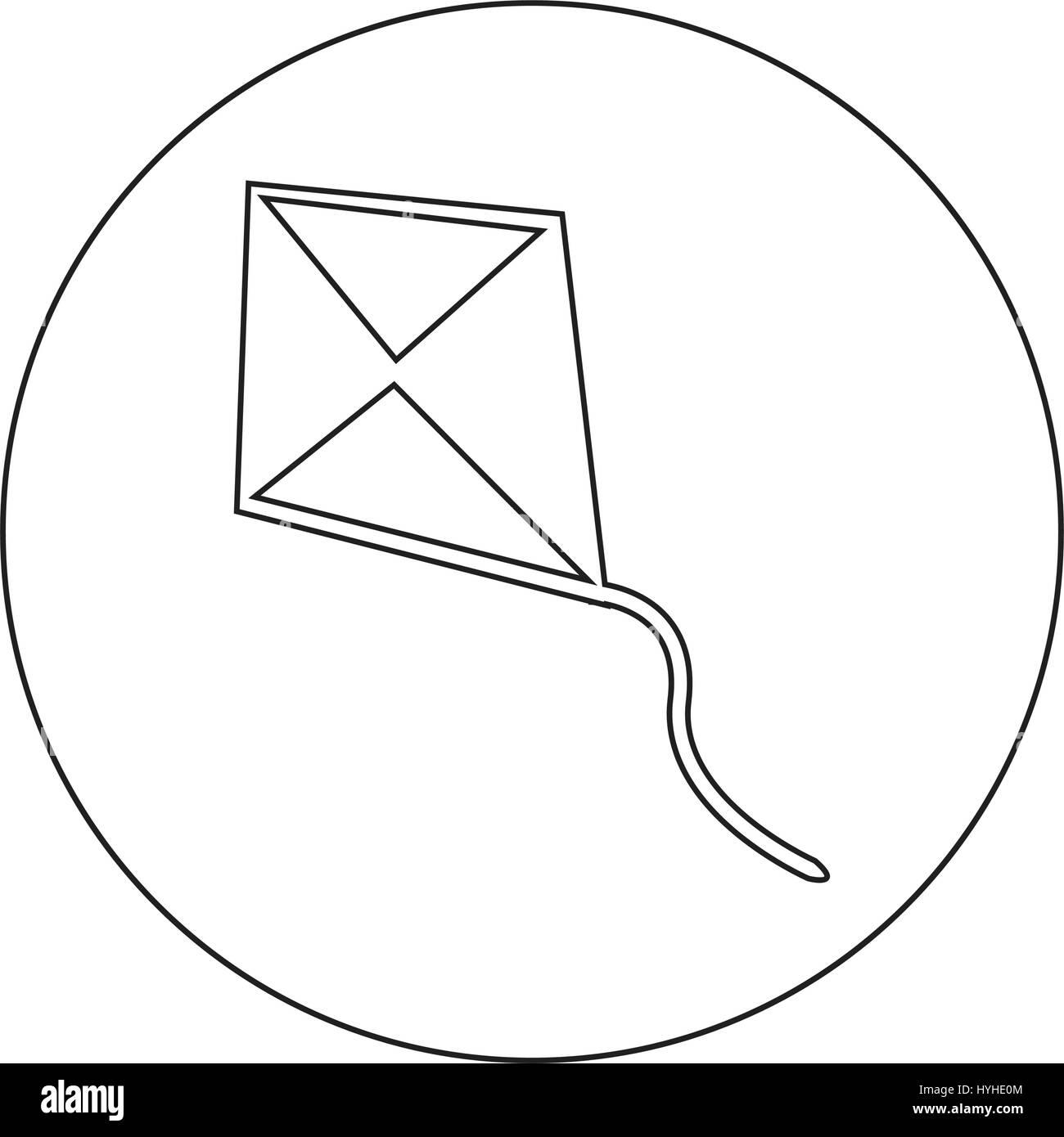 Kite Cartoon Icon Black And White Stock Photos Images Alamy Diagram Image