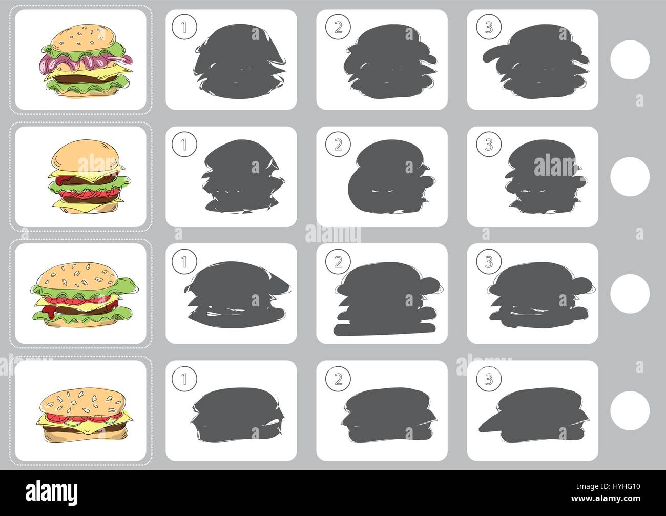 Match shadow - Worksheet for education Stock Vector Art ...