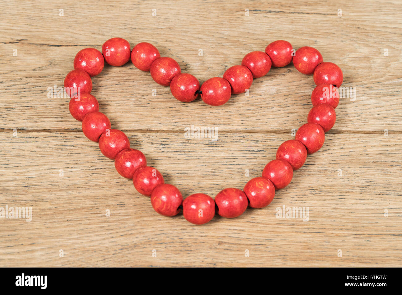 Bead heart decoration on stand 7