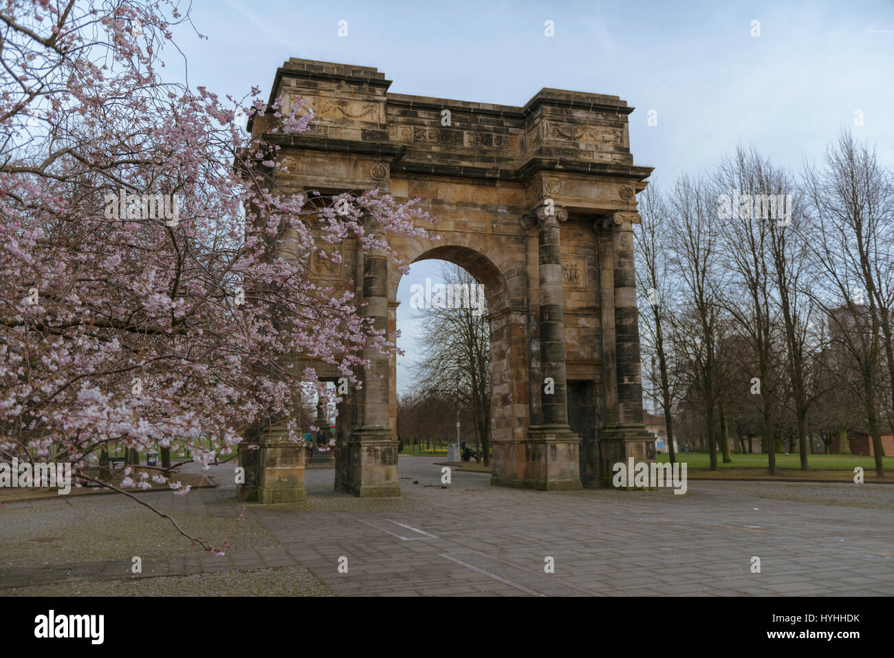 McLellan Arch, Glasgow Green, Glasgow, Scotland, UK - Stock Image