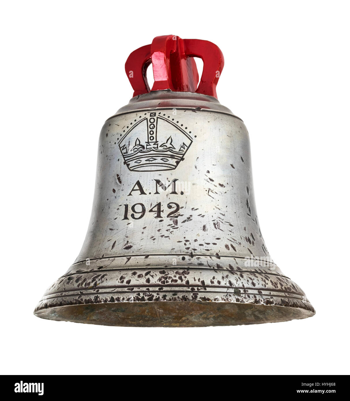 British WW2 Air Ministry large scramble bell from 1942, tolled to alert British Fighter Command Air Stations of - Stock Image