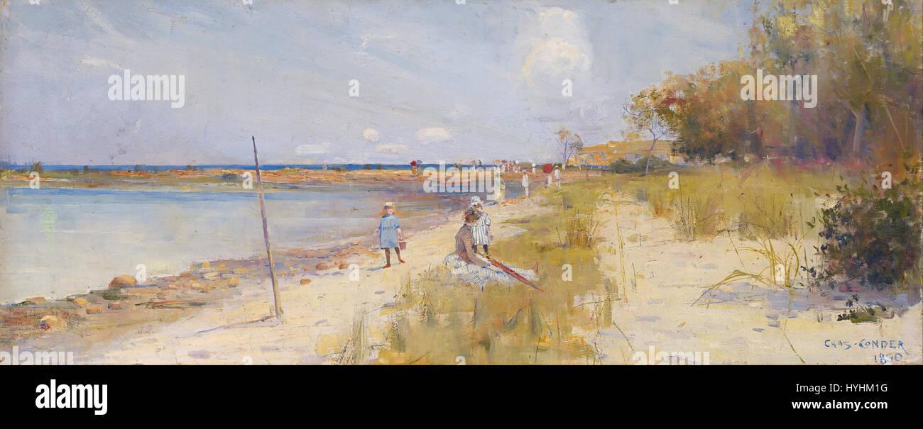 Charles Conder   Rickett's Point   Google Art Project - Stock Image