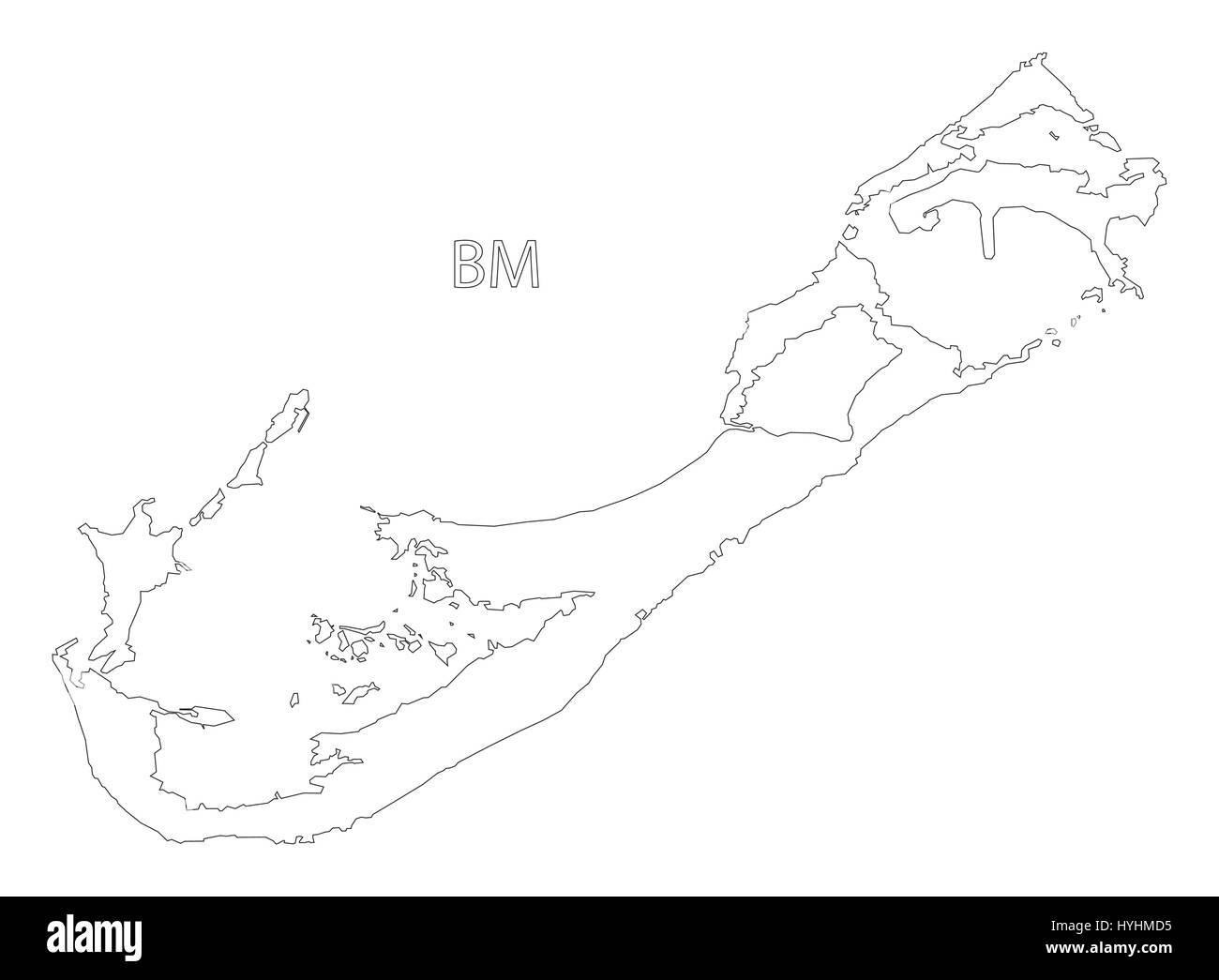 Map Bermuda Cut Out Stock Images & Pictures - Alamy