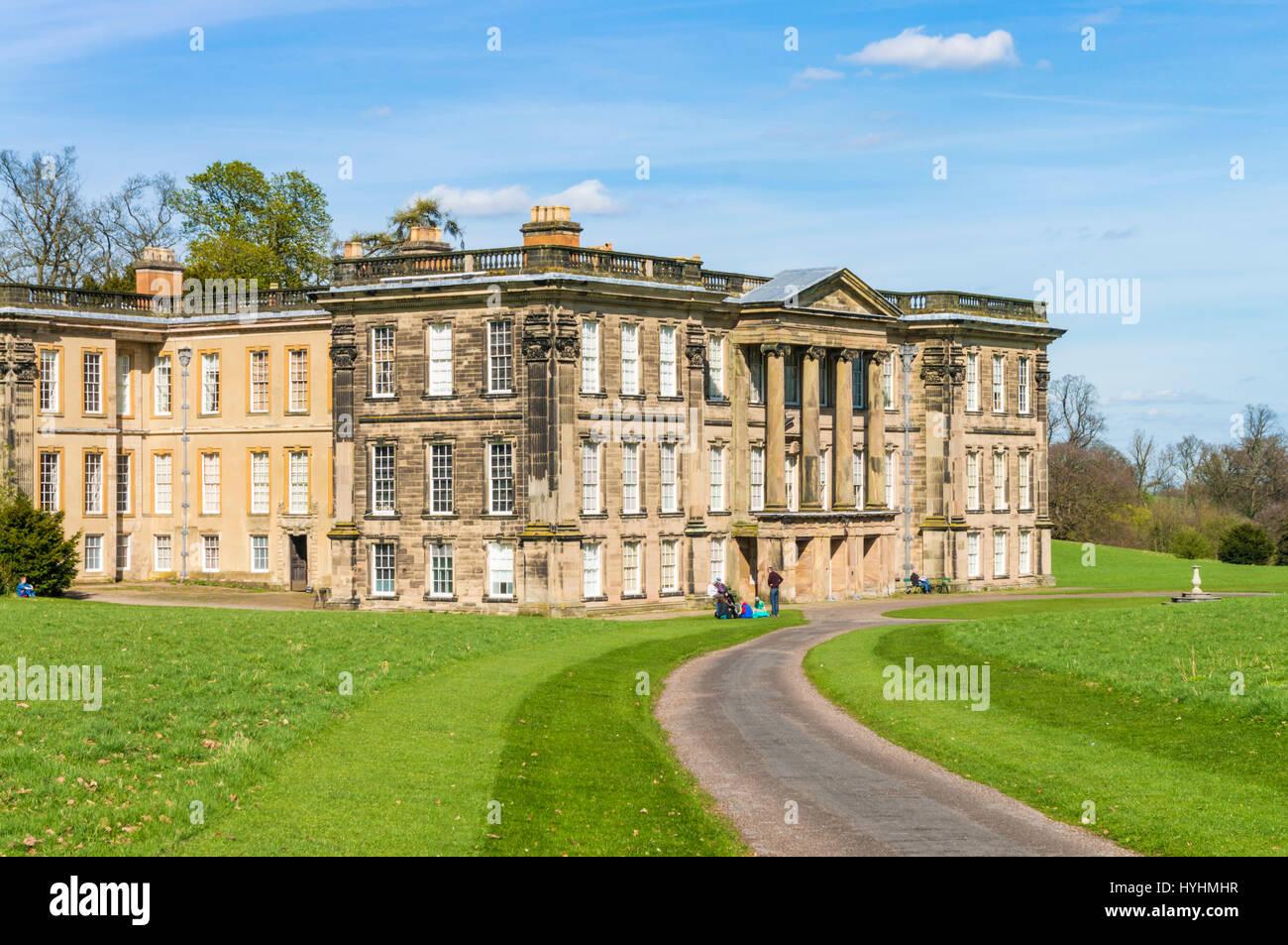 calke abbey derbyshire stately home uk calke abbey park ticknall derbyshire england uk gb europe - Stock Image