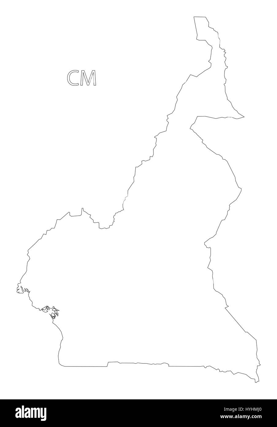 Cameroon outline silhouette map illustration stock vector art cameroon outline silhouette map illustration ccuart Image collections