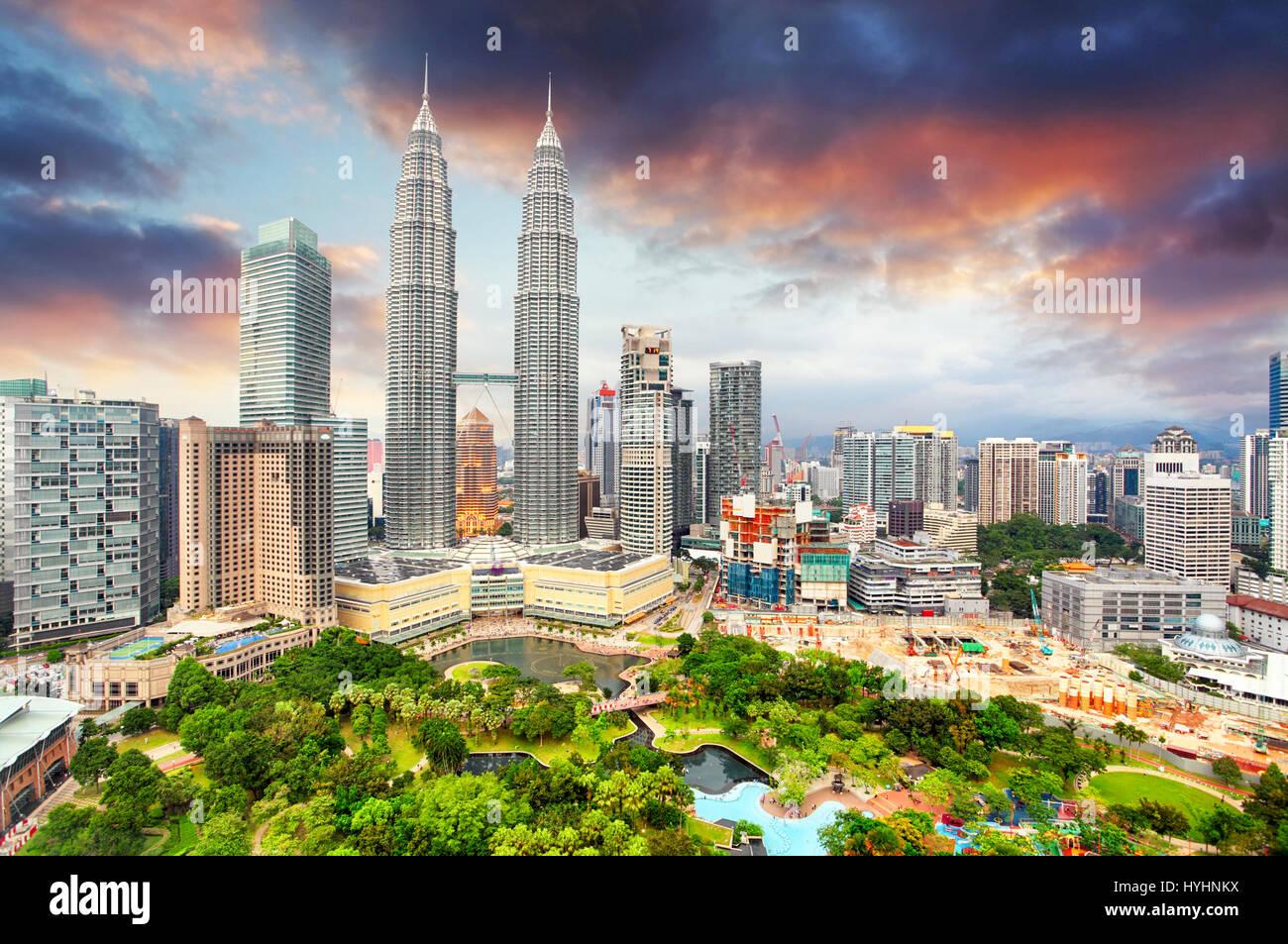 Kuala Lumpur, Malaysia skyline. - Stock Image