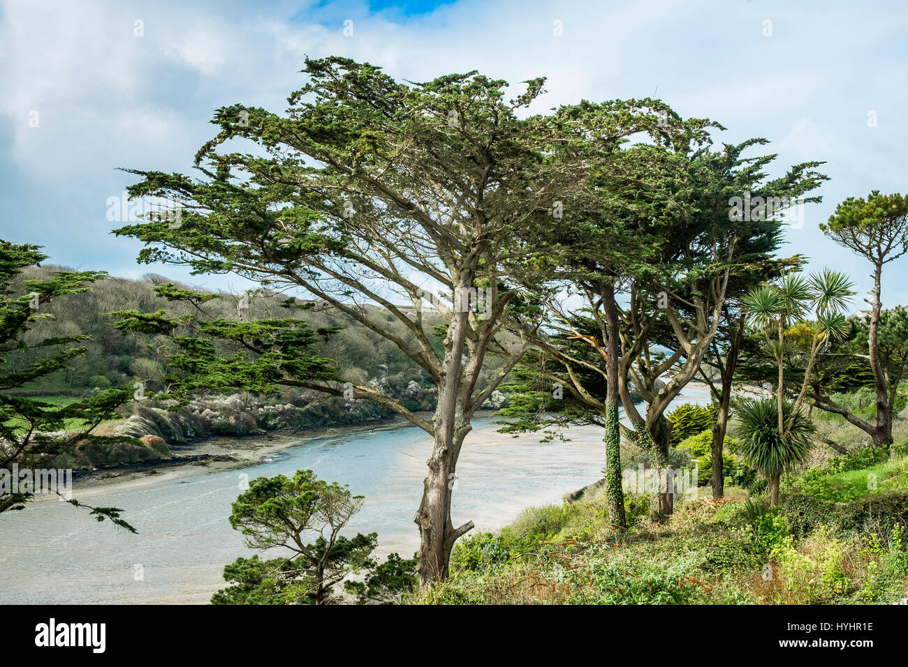 The Gannel Estuary in Newquay, Cornwall. - Stock Image