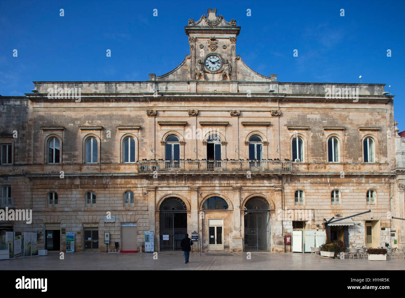 Town hall, Piazza della Libertà, Ostuni, Puglia, Italy, Europe Stock Photo