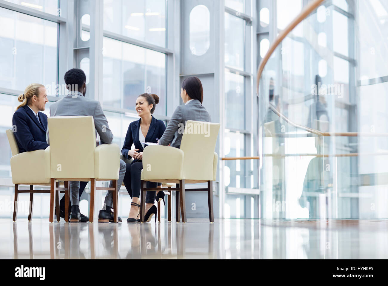 Discussing business market - Stock Image