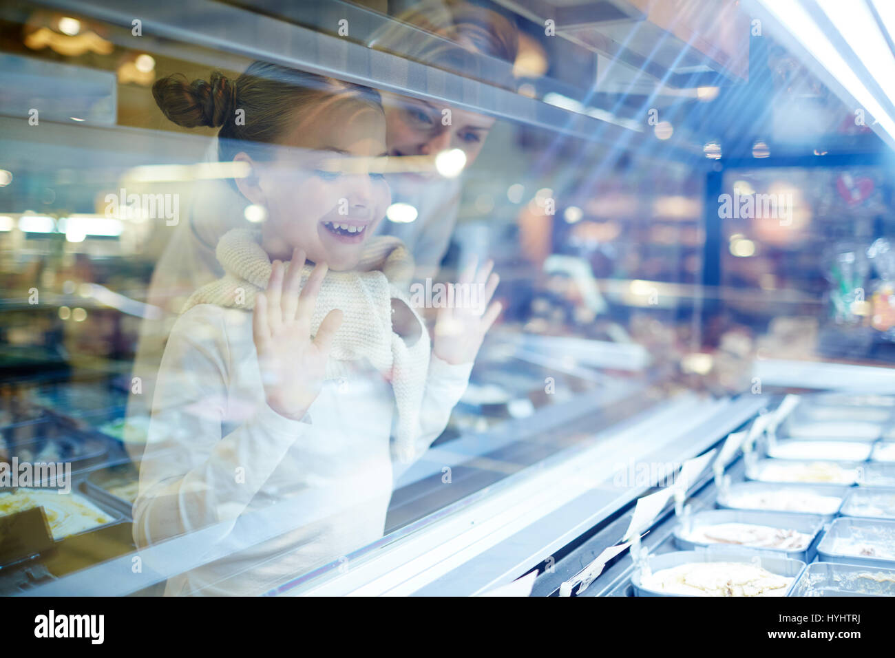 Excited girl - Stock Image
