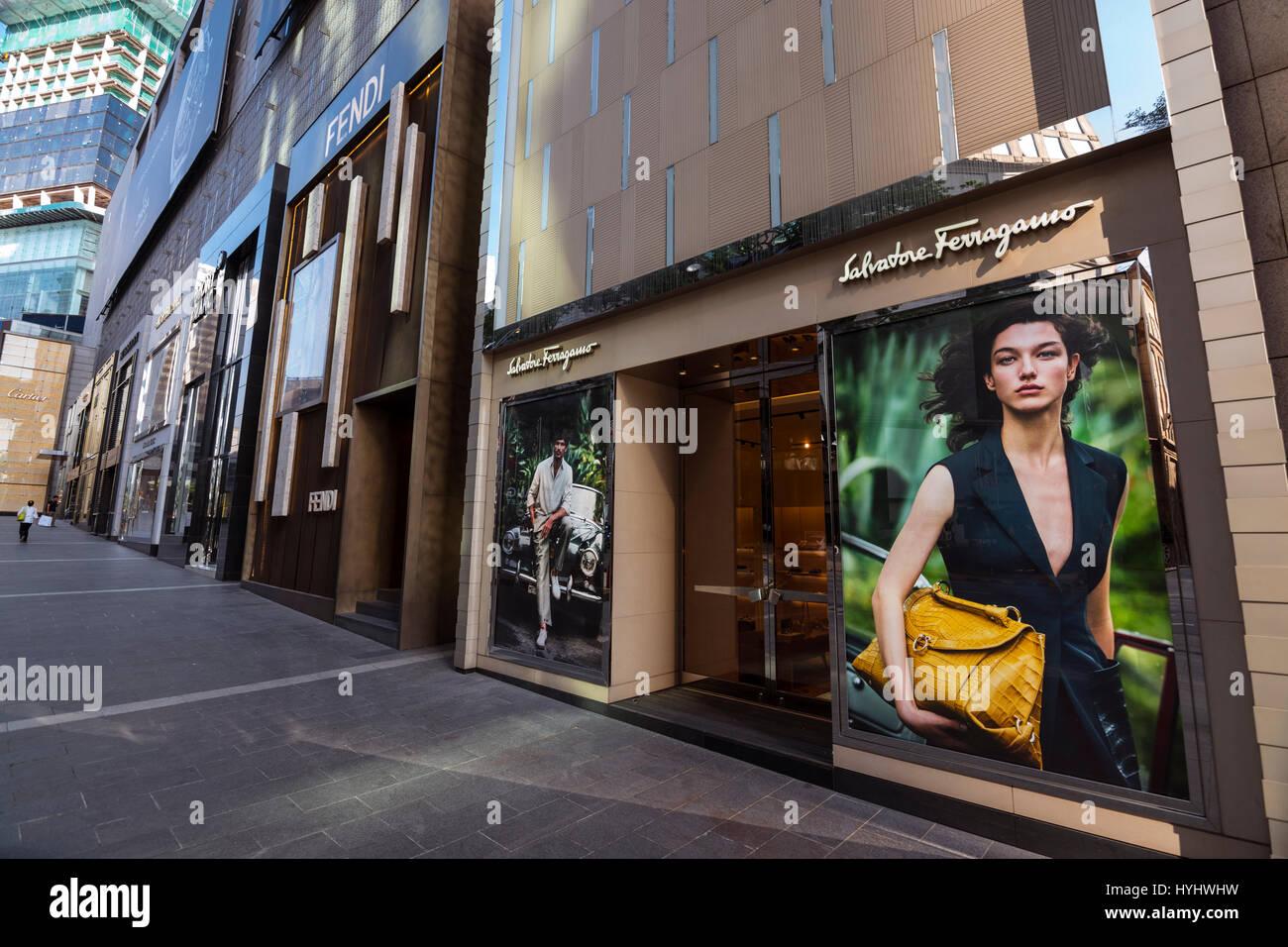 Salvatore Ferragamo, Pavilion Shopping Mall, Kuala Lumpur, Malaysia - Stock Image