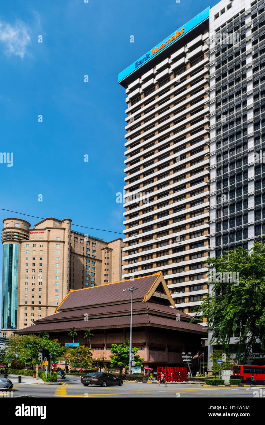 Bank Muamalat At Masjid Jamek Lrt And Ocbc Bank Kuala Lumpur Stock Photo Alamy