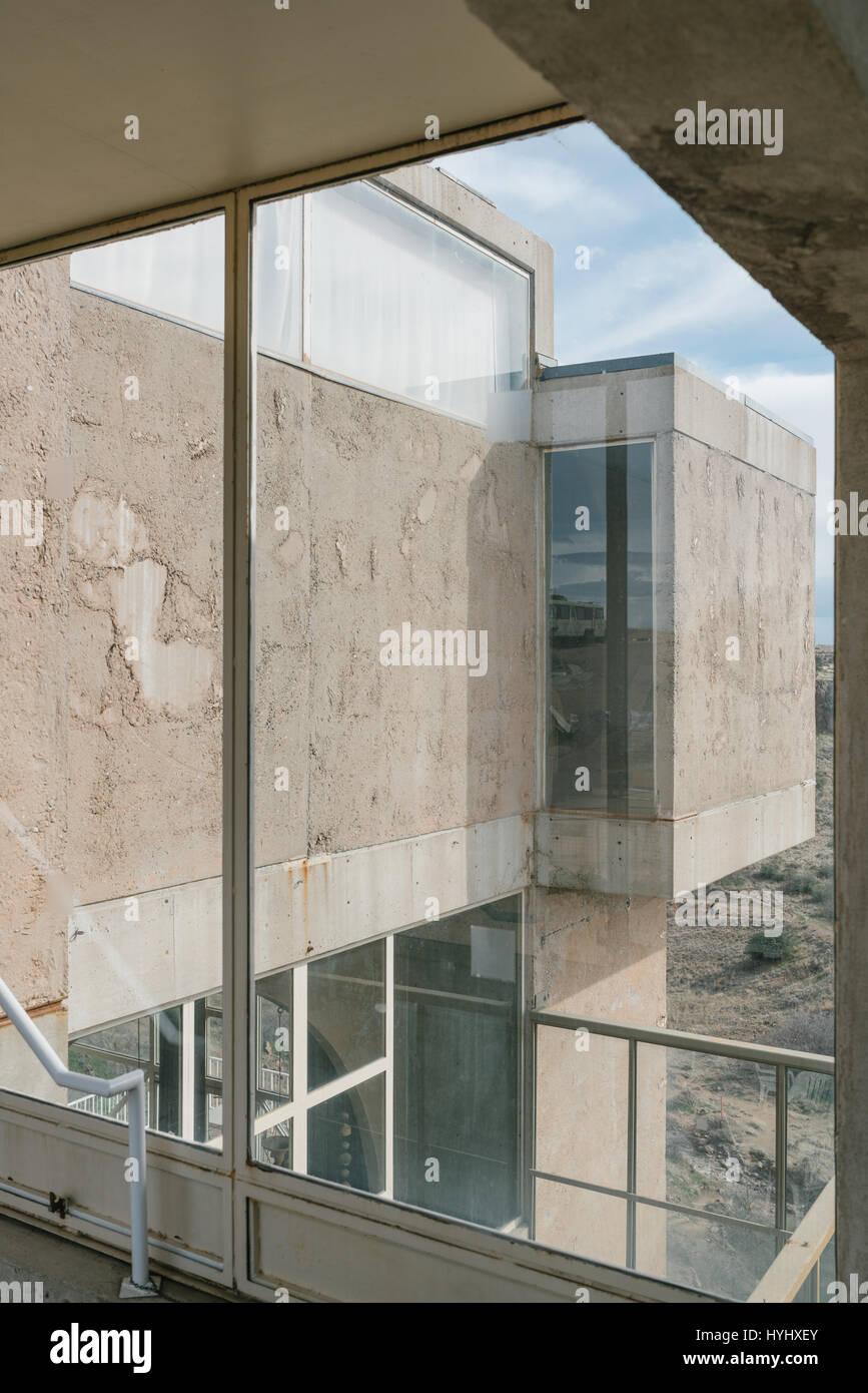 Arcosanti is an Urban Project in Arizona by Paolo Soleri Stock Photo