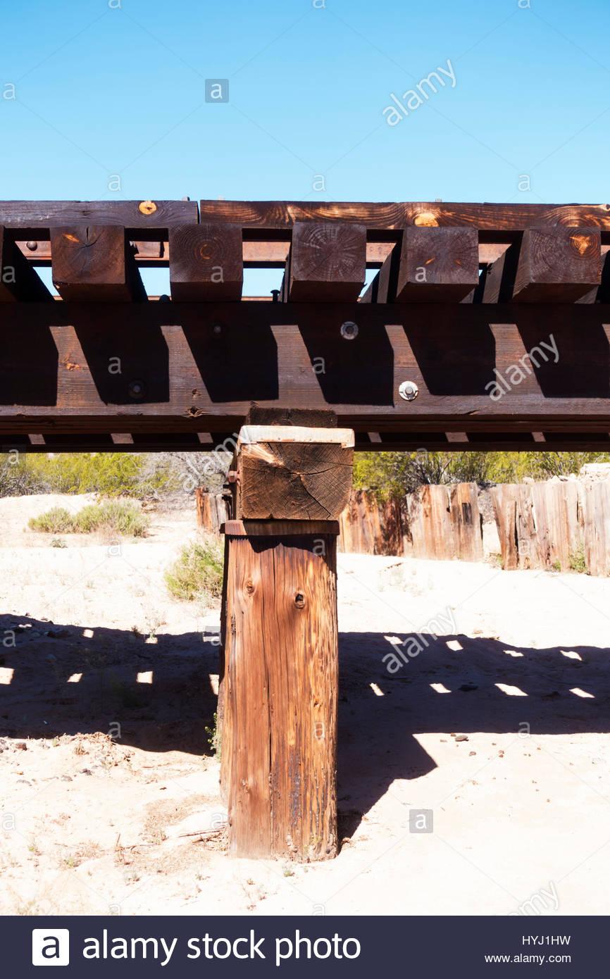 Wooden Railroad Bridge Stock Photos & Wooden Railroad Bridge