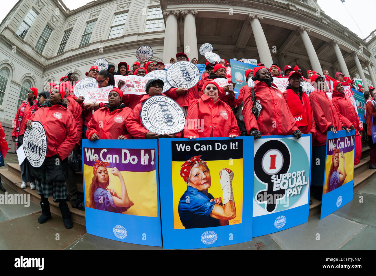 New York, USA. 4th April, 2017. New York, USA. 04th Apr, 2017. Activists, community leaders and politicians gather - Stock Image