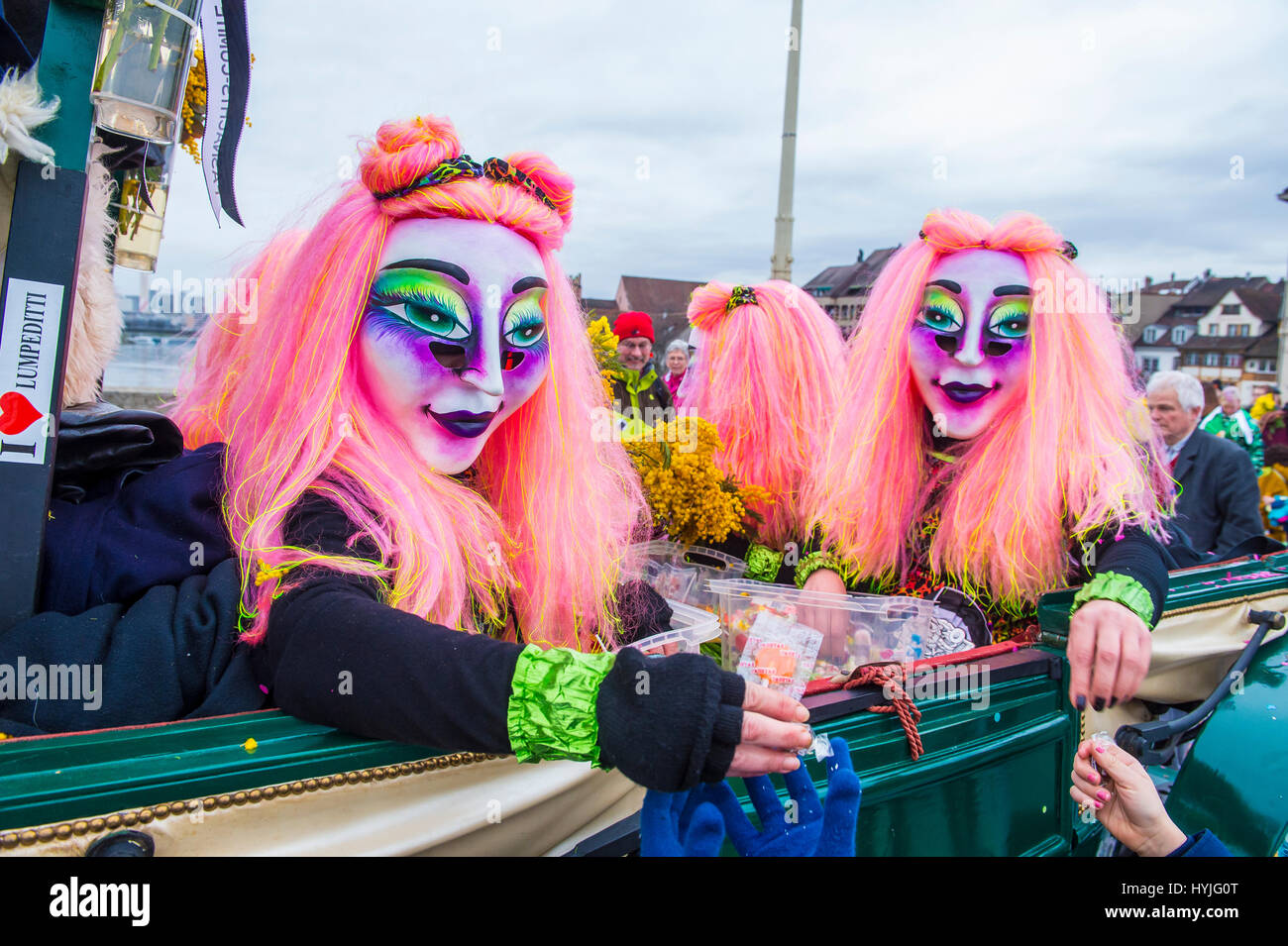 BASEL , SWITZERLAND - MARCH 08 : Participants in the Basel Carnival in Basel , Switzerland on March 08 2017. The - Stock Image