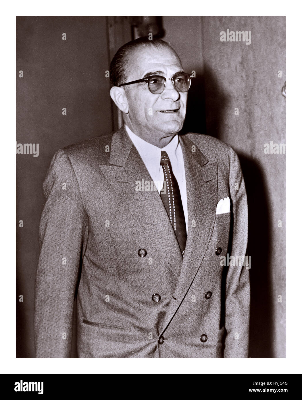Vito 'Don Vitone' Genovese (November 27, 1897 – February 14, 1969) was an Italian-American mobster who rose - Stock Image