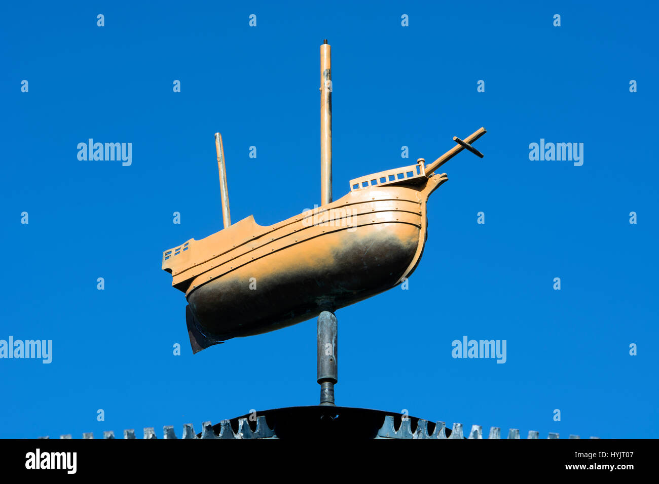 A ship on top of the bandstand in Castle Park, Bristol, UK Stock Photo