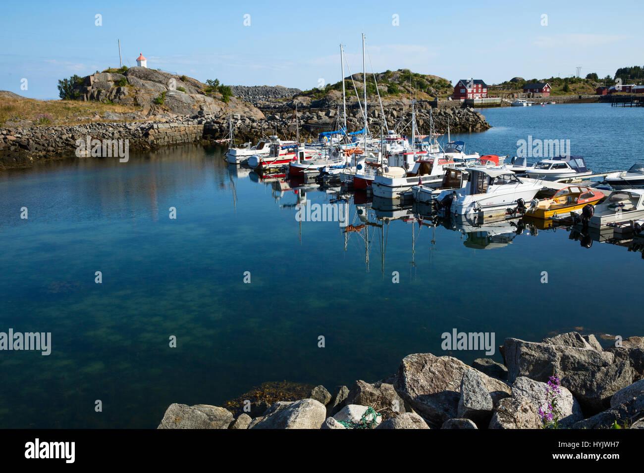 Europe,Norway,Lofoten,Vestvagoy,a little village of fishermen - Stock Image