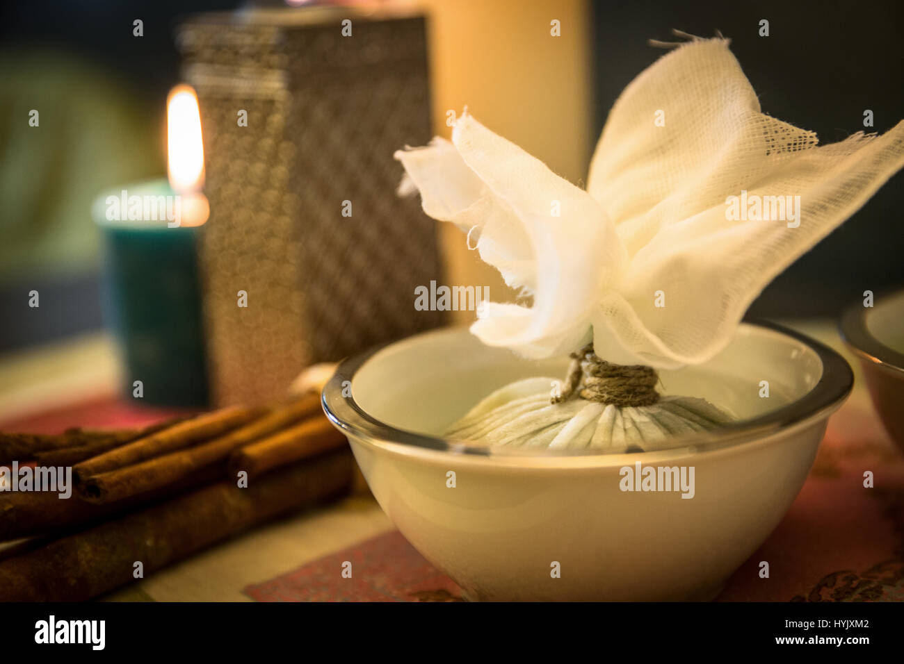Bags herbal for massages - Stock Image