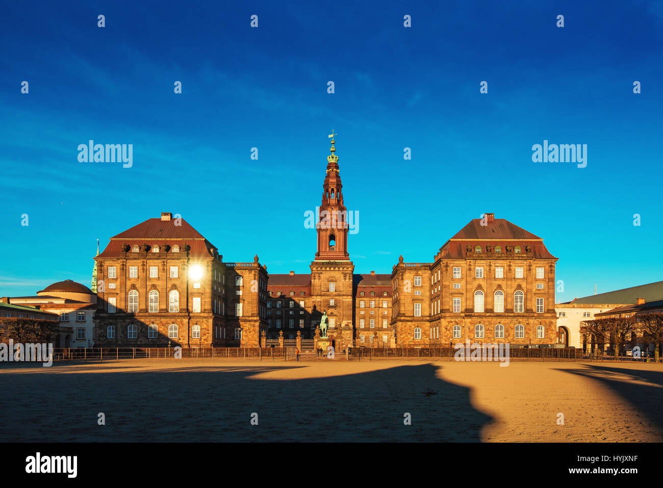 COPENHAGEN, DENMARK - MARCH 11, 2017: Christiansborg Palace in Copenhagen Denmark, Danish parliament building. Parts - Stock Image