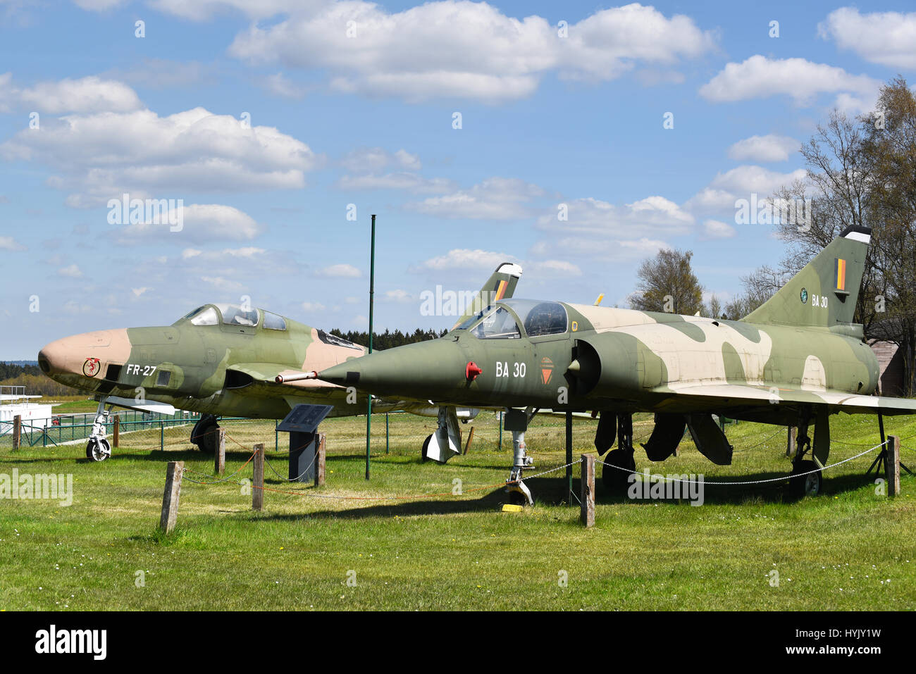 Out of use military Lockheed F-104 Starfighter of Belgian Air Component - Stock Image