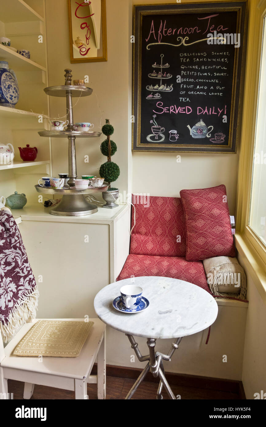 Cozy table setting by the window at the Venus Sophia tearoom in ...