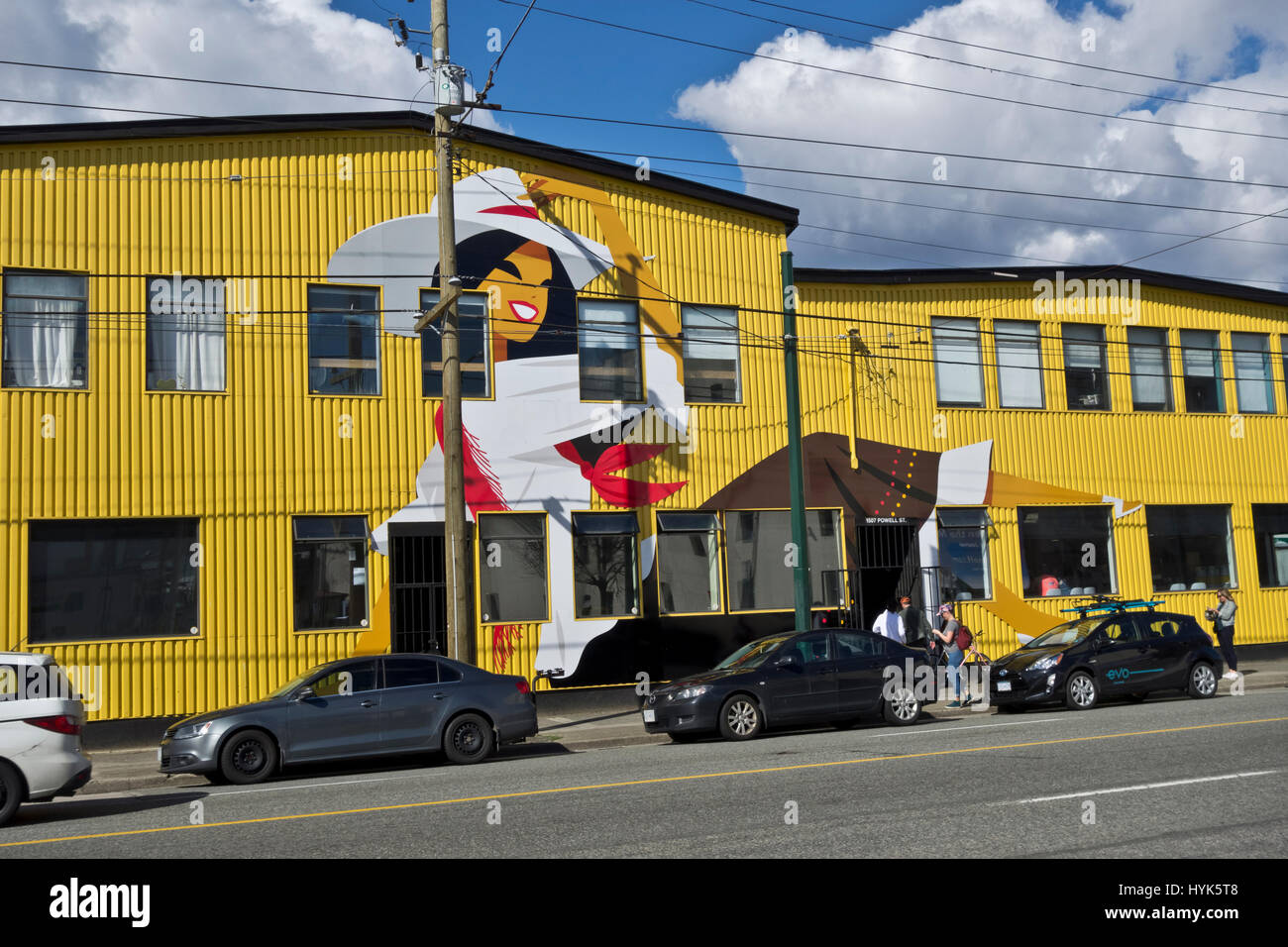 Andina Brewing Company in East Vancouver, BC, Canada. Craft beer in Vancouver. - Stock Image