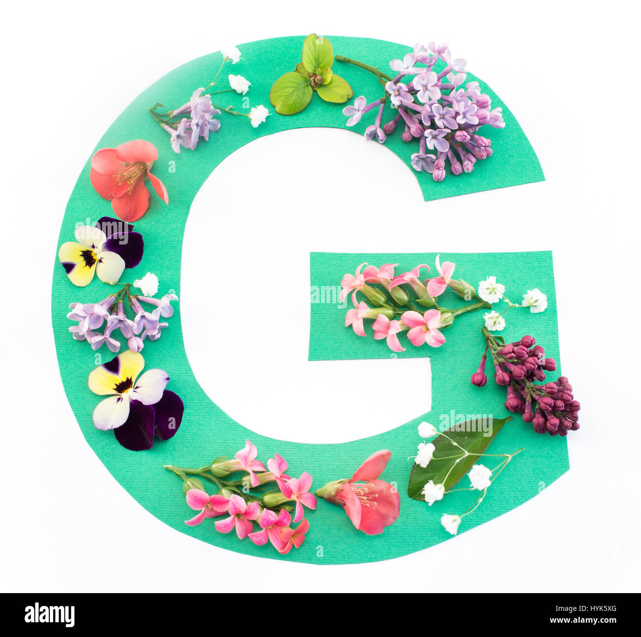 Letter G Flowers Stock Photos Letter G Flowers Stock Images Alamy