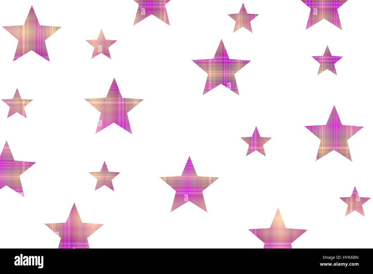 Checkered stars on a white background - Stock Image
