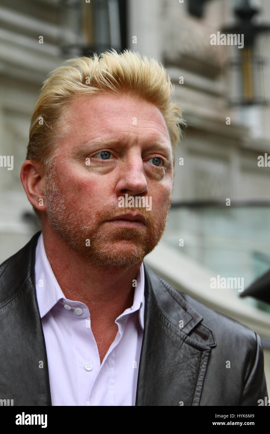 Boris Becker at Whitehall Place Westminster London on 10th October 2012. Stock Photo