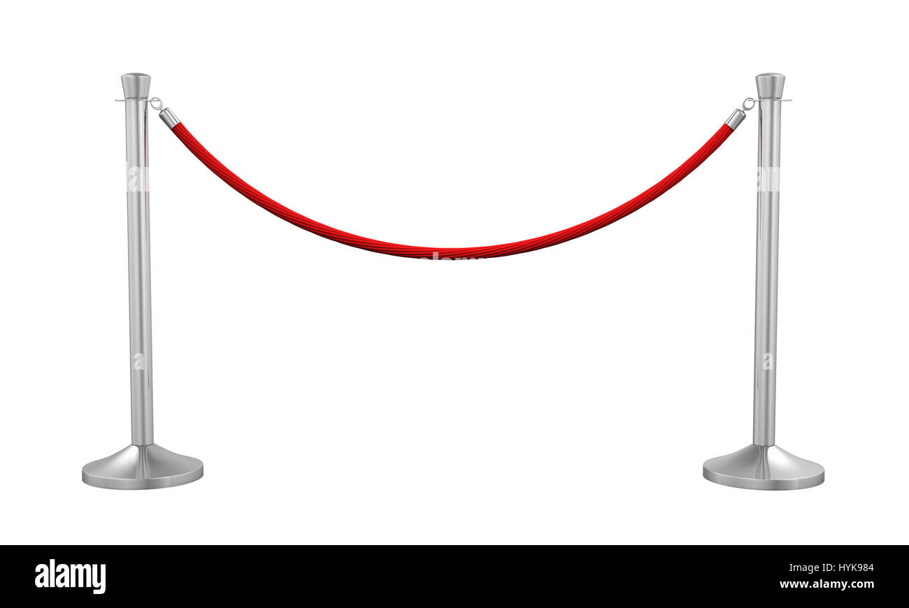 Barrier Rope Isolated - Stock Image