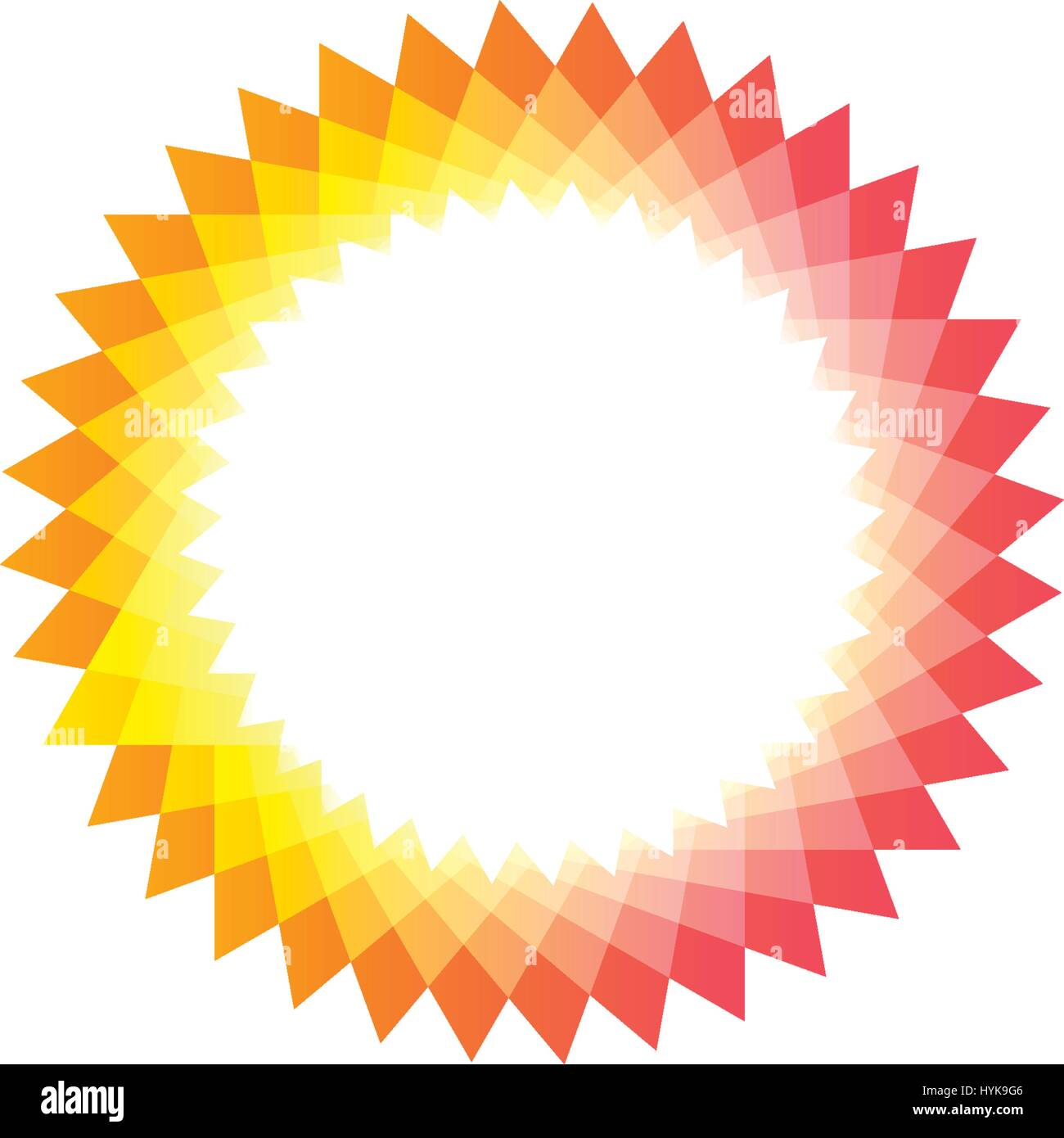 isolated pink and yellow color sun logotype abstract round shape