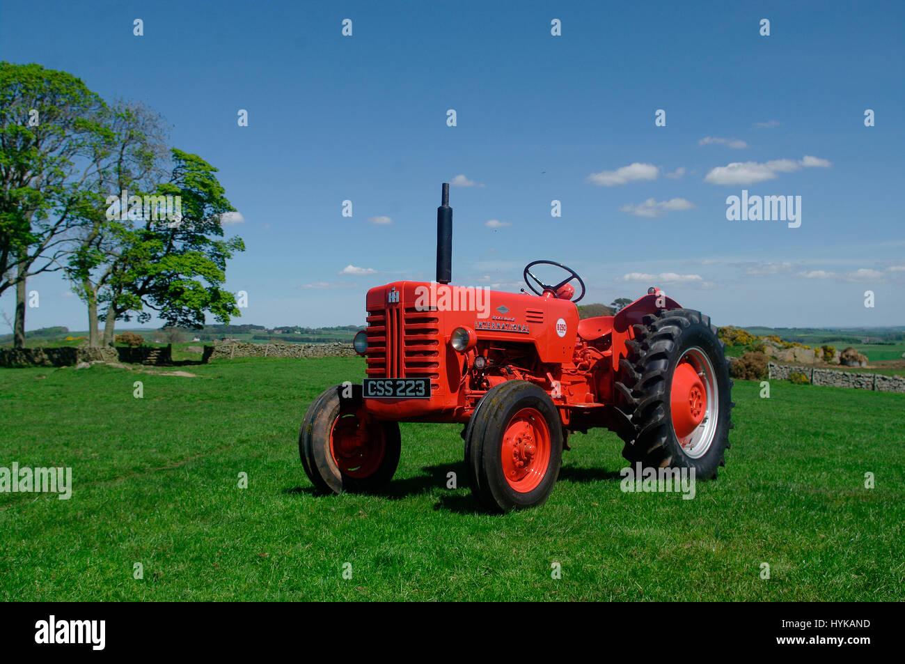 1957 McCormick International B-250 Tractor - Stock Image