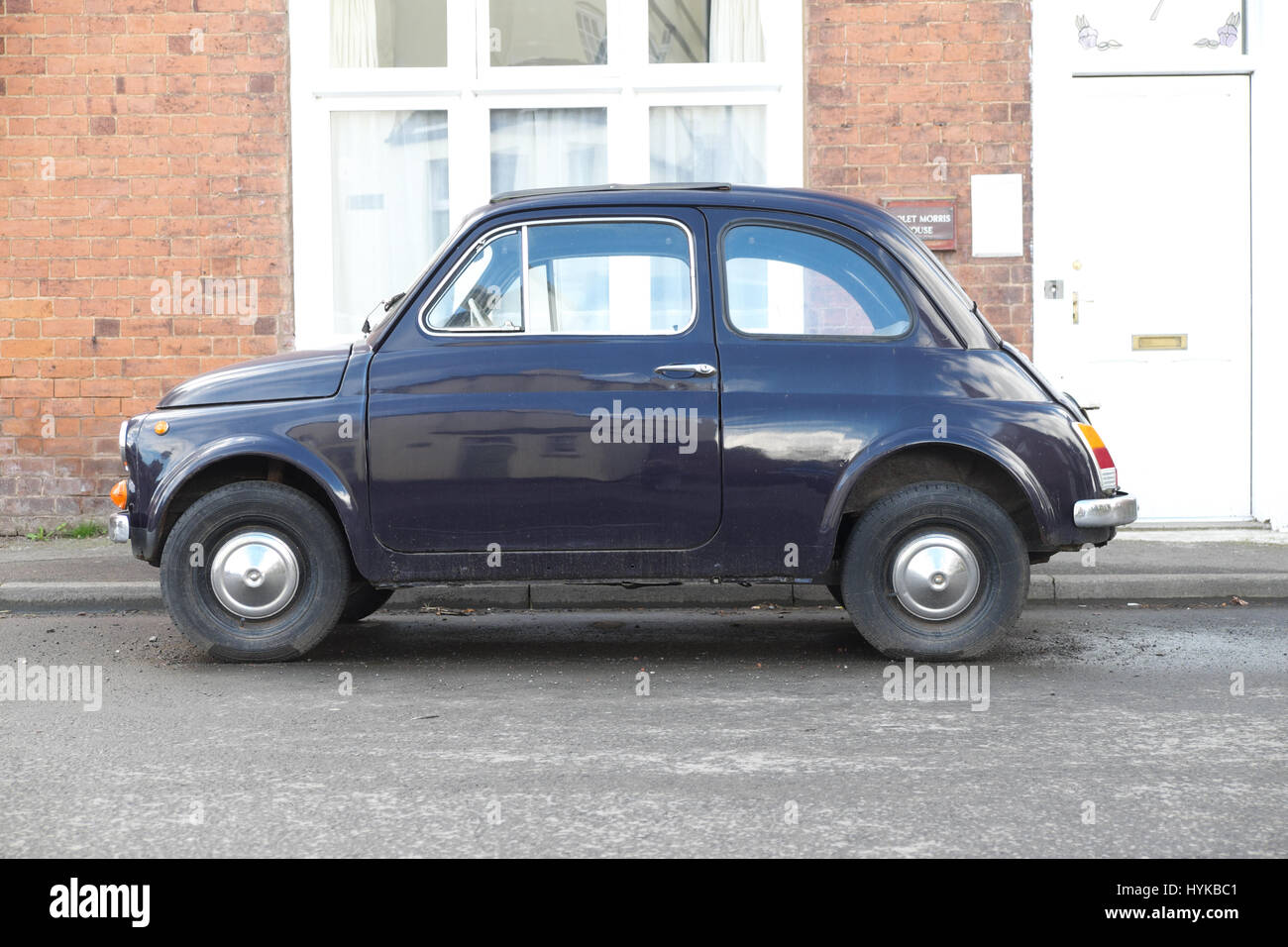 Fiat 500 vintage classic Italian car from the 1960s - Stock Image