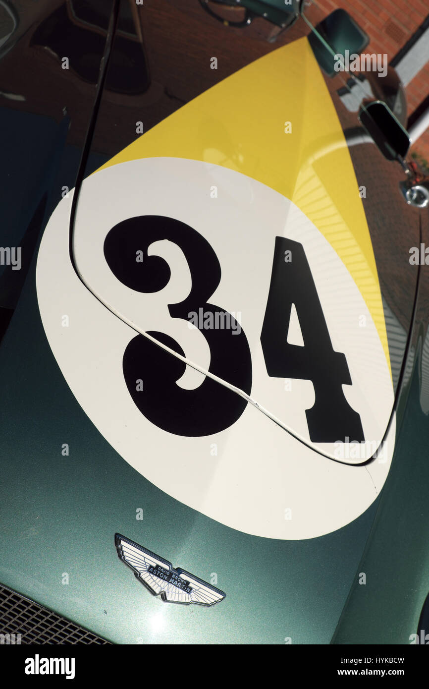 Aston Martin DB3S motor racing car - Stock Image