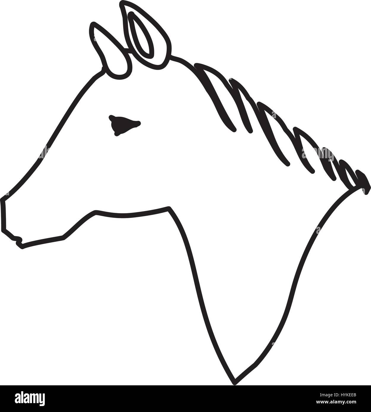Horse animal silhouette - Stock Image
