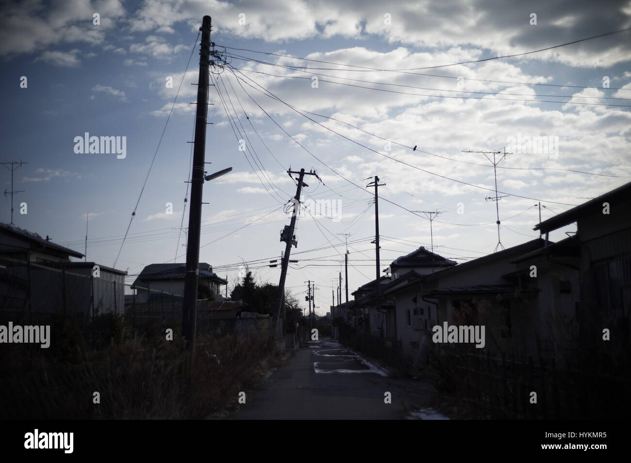 OTAMA VILLAGE, FUKUSHIMA: ONE FAMILY'S five-year struggle to overcome the Fukushima disaster by living in the radiation - Stock Image