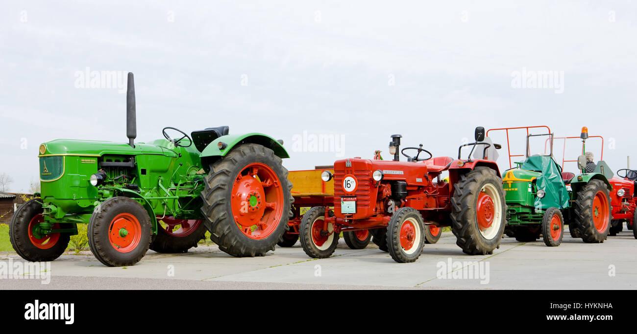 tractors, Noord Holland, Netherlands - Stock Image