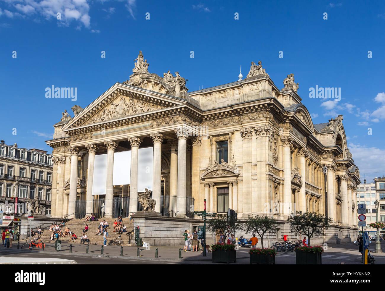 Brussels Stock Exchange - Belgium - Stock Image