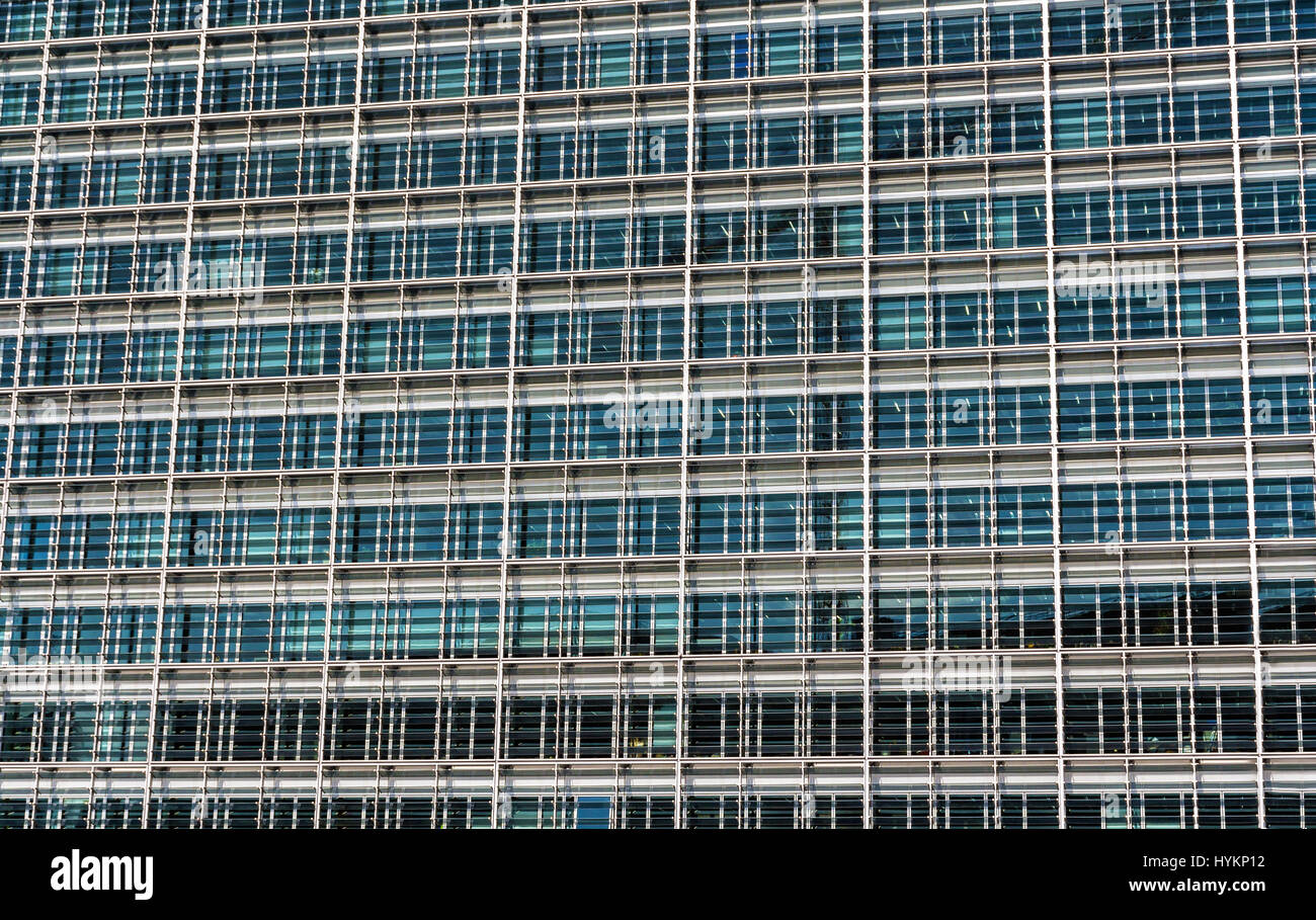 Glazing of the Berlaymont building, the seat of the European Com - Stock Image