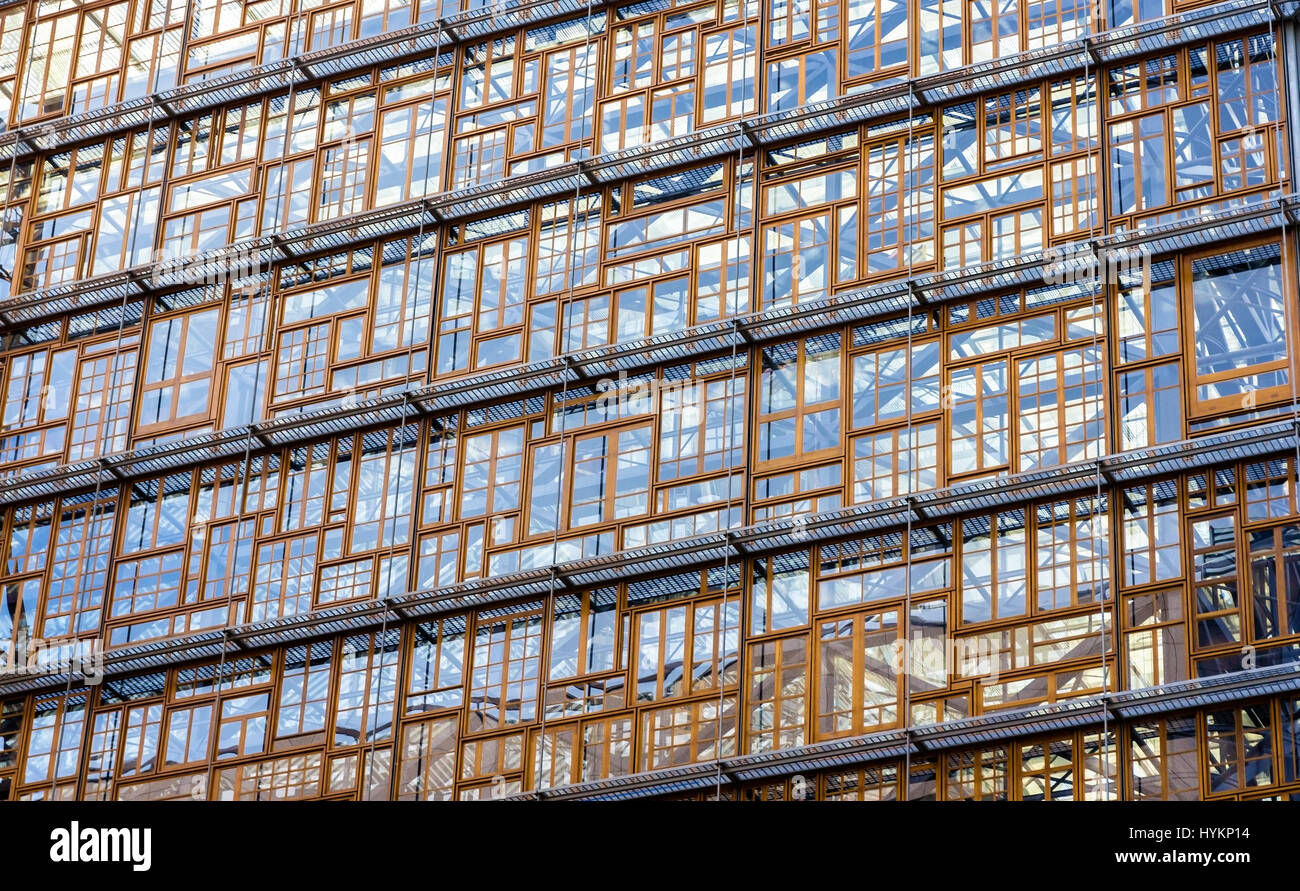 Glazing of the Europa building, the future seat of the European  - Stock Image