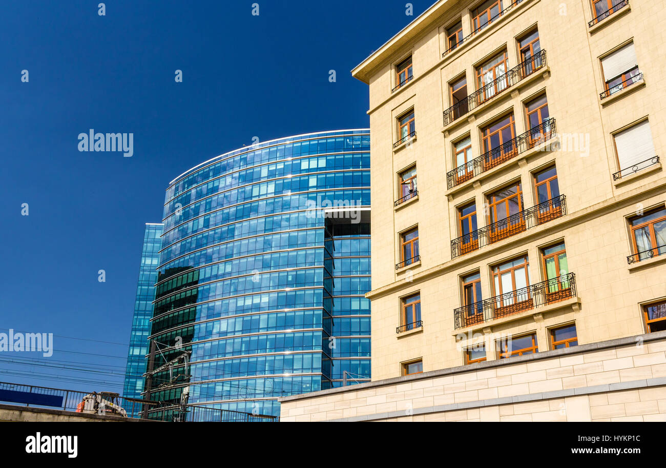 Lex building of the Council of the European Union in Brussels - Stock Image